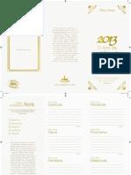 Folder Alvos 2013 Lagoinha