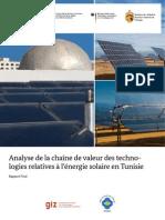 Chaîne de Valeur Solaires en Tunisie