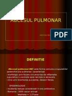 Abcesul Pulmonar - Curs