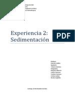 Laboratorio Sedimentación