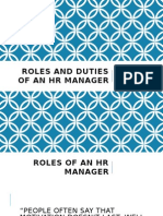 Roles and Duties of an HR Manager