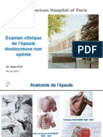 Examen Clinique Épaule Douloureuse