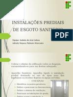 Instalações Prediais de Esgoto Sanitário