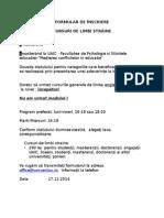 Formular de Inscriere CLS 11 1