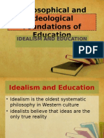 Philosophical and Ideological Foundations of Education