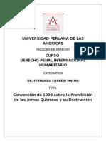 Derecho Penal Internacional Humanitario Convención 1993 Armas Químicas 2014