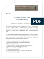 IV Congreso Internacional Cuestiones Críticas