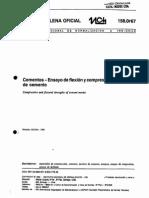 NCh 158 Of67 Cementos - Ensayo Flexión y Compresión Morteros Cemento