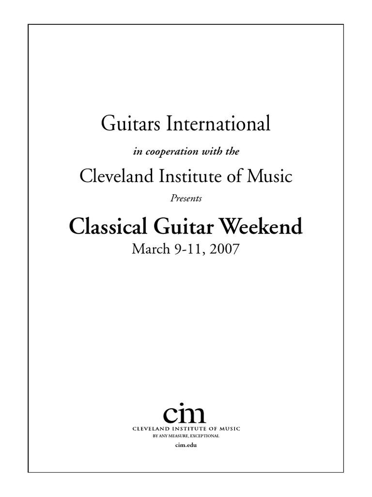 2007 Guitar Weekend Johann Sebastian Bach Musical Compositions