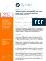 The Rise in Health Coverage and Affordability Since Health Reform Took Effect