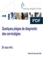Pieges de Diagnostic Des Cervicalgies