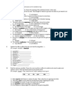 Affixes - Elementary Worksheet for Fifth Graders