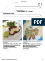 Recetas de Nicaragua en Nicaragua