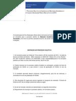 MESTRADO - EDITAL 2-2014 - Abertura Do Processo Seletivo Para o Ano Letivo de 2015