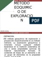 Metodo Geoquimico de Exploracion 2015