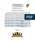 Distrito de Igapó_cronograma de Atividades 2015
