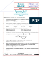 Assignment 01 Rectillinear Motion AJN Sir-2921