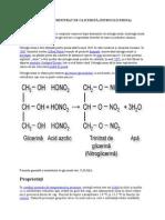 Obtinerea Trinitrat de Glicerină