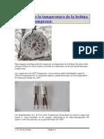Medicic3b3n de La Temperatura de La Bobina Motor Del Compresor