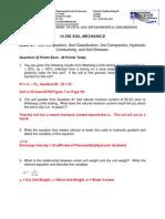Soil Mechanics Example Questions