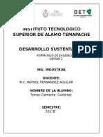 Portafolio Unidad 2 desarrollo sustentable