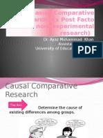 Casual Comparative Research
