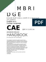 Chambridge Exam CAE