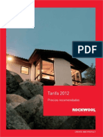 030202 Tarifa Rockwool Aislamientoacustico 2012