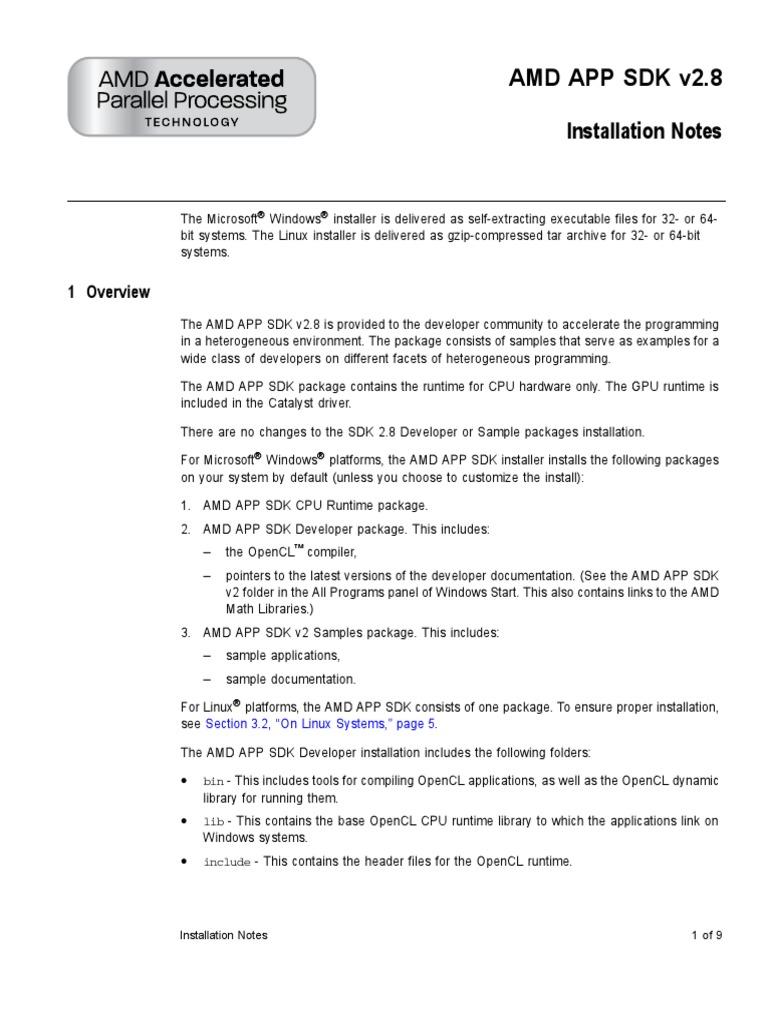 AMD APP SDK Installation Notes   Microsoft Visual Studio