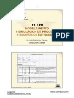 Modelamiento y Simulacion de Procesos y Equipos de Extracción