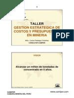 Gestion estrategica de costos y presupuestos en mineria