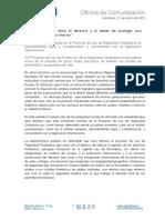210115 Nota de Prensa de Mª Carmen Duenas