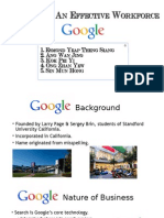 Attracting an effective workforce (Study on Google)