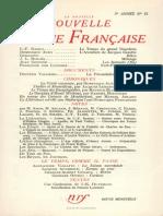 La Nouvelle Nouvelle Revue Francaise n 53 Mai 1957
