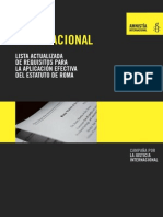Corte Penal Internacional - Lista Actualizada de Requisitos Para La Aplicación Efectiva Del Estatuto de Roma