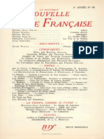 La Nouvelle Nouvelle Revue Francaise n 48 Decembre 1956