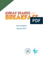 great starts breakfast survey report