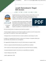 Damodaran's Target Selection