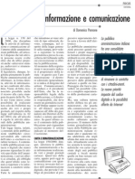 PA editrice tra informazione e comunicazione 7 novembre 2009
