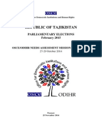 Tajikistan, Parliamentary Elections, February 2015