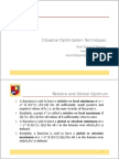 2. Classical Optimization Technique