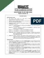 IIT JEE 2008 Paper II Solutions by Brilliant Tutorials