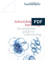 Academic Guide - Acknowledging Knowledge