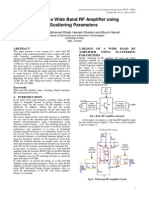 Design of a Wide Band RF Amplifier using Scattering Parameters