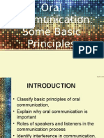 Oral Communication Some Basic Principles