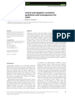 Fisheries-induced neutral and adaptive evolution in exploited fish populations and consequences for their adaptive potential