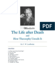 The Life After Death and HOw Theosophy Unveils It