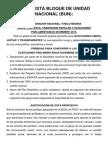Propuesta Bloque de Unidad Nacional (Bun)