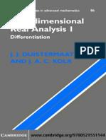 J. J. Duistermaat, J. a. C. Kolk. Multidimensional Analysis I