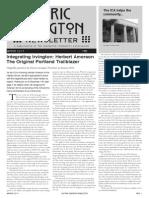 Historic Irvington Newsletter - 2014 Winter
